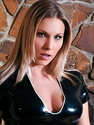 Innocent Harmony gets Hot Wearing Latex