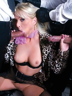 Kathy is able for two cocks at the same time